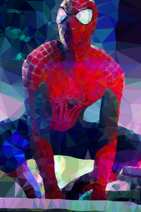 Spiderman Low Poly Arts
