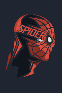 Spiderman Mask Minimalism 8k