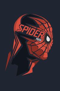 480x800 Spiderman Mask Minimalism 8k