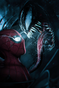 480x800 Spiderman Meets Venom 4k