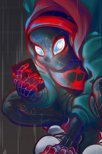 540x960 Spiderman Miles Art