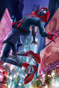 Spiderman Miles Morales Art HD