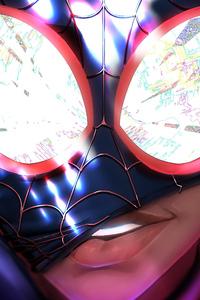 Spiderman Miles Morales Closeup
