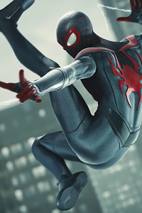 240x400 Spiderman Miles Morales Web Shooter 4k