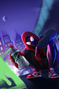 Spiderman Miles Morales With Spray Paint