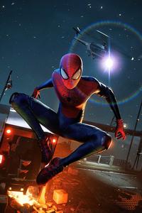 320x480 Spiderman Miles Thrilling 4k