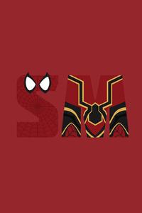 Spiderman Minimalism Avengers Infinity War 5k
