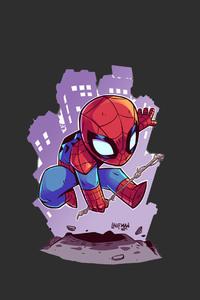 750x1334 Spiderman Minimalism