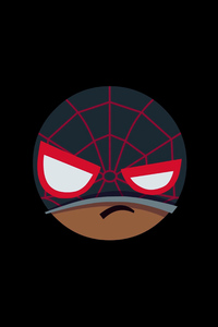 1242x2688 Spiderman Mood Off Minimal 5k