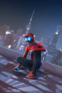 480x800 Spiderman Night Mask 5k