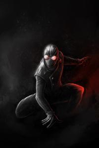 Spiderman Noir Art 4k