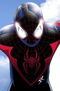 1440x2560 Spiderman On The Sky