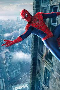 480x800 Spiderman Outside Building 4k