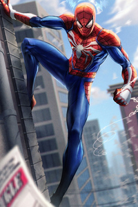 320x480 Spiderman Paint Art