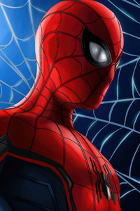 1440x2560 Spiderman Paint Splash Art 5k
