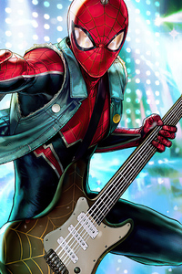 Spiderman Playing Guitar