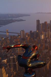 Spiderman Ps4 At City Edge 4k