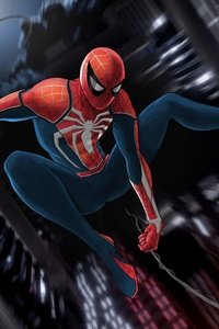 Spiderman Ps4 Game Art