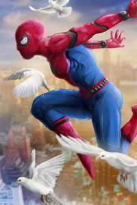 320x568 Spiderman Ready For Day