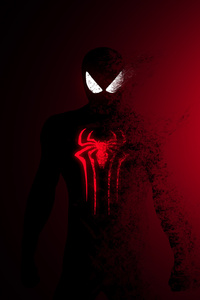 1440x2960 Spiderman Red Burning 4k