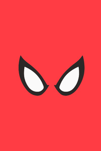 Spiderman Red Minimal Background 4k