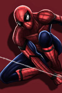 Spiderman Shooting His Web