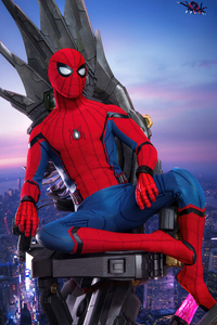 2160x3840 Spiderman Sitting On Crown