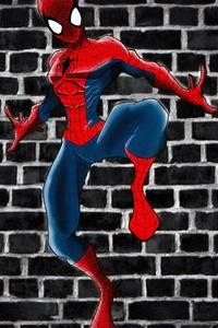 480x800 Spiderman Sketch Artwork