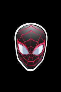 640x960 Spiderman Sticker Minimal Badge 5k