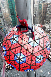 Spiderman Swing Into Times Square