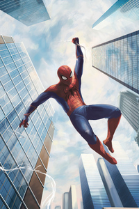 750x1334 Spiderman Swinging 4k