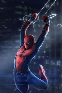 1440x2560 Spiderman Swinging In City 4k