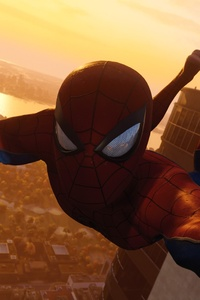 Spiderman Taking Selfie Of Avengers Tower