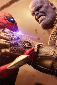 Spiderman Thanos Avengers Infinity War