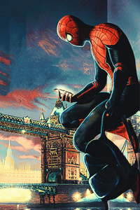 800x1280 Spiderman Tower Bridge