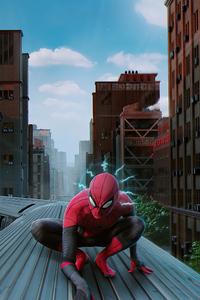 2160x3840 Spiderman Train