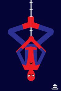 Spiderman Upside Down Minimalism 4k