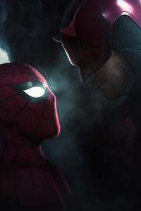 1125x2436 Spiderman Vs Daredevil