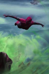 720x1280 Spiderman Vs Mysterio 4k Art