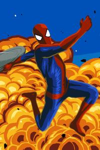 Spiderman Vs Rhino 8K Artwork