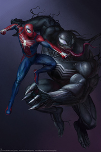 Spiderman Vs Venom Artwork HD