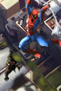 Spiderman Vs Venom Fight 4k
