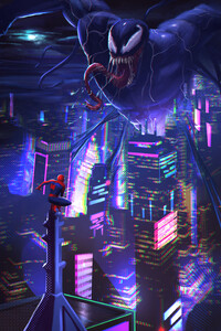 Spiderman Vs Venom In City