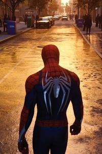 Spiderman Walking In NYC Streets