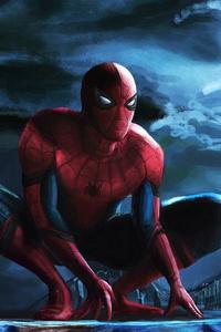 Spiderman Watching