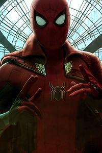 320x480 Spiderman Web Suit 4k