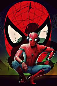 Spiderman With Headphones