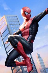 750x1334 Spiderman4k Flying