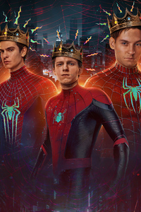 540x960 SpiderManNoWayHome Peterparker TobeyMaguire AndrewGarfield TomHolland Spiderverse
