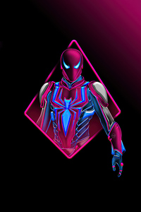 480x800 Spidermansuit Minimal 4k
